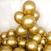 50 st guldballonger, gyllene kromballonger metallisk ballong, 30 cm guld heliumballonger latexballonger för födelsedag...