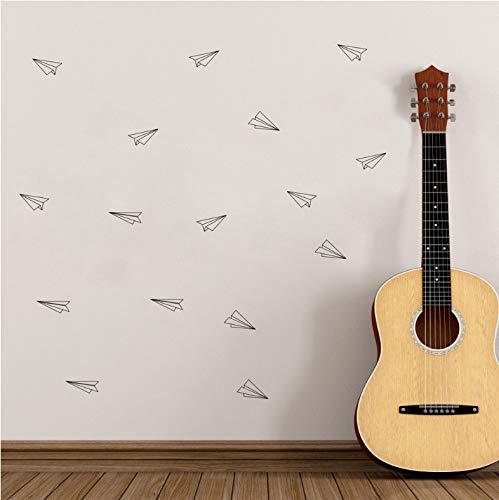 Xin Yao Store Calcomanías De Pared De Origami De Avión Geométrico Decoración De Arte De Vivero, Pegatinas De Pared De Avión De Vinilo De Vuelo Geométrico Sala De Estar 59X90Cm