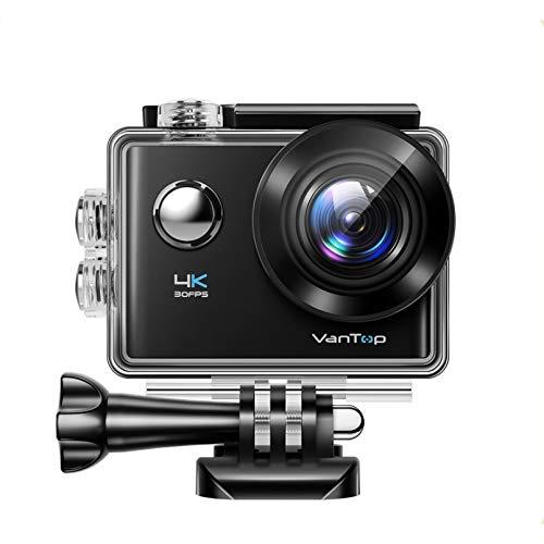 WSZOK Cámara de acción 4K 20Mp 20Mp subacuática impermeable cámara con pantalla táctil Wifi inalámbrico remoto 170° gran angular Cam