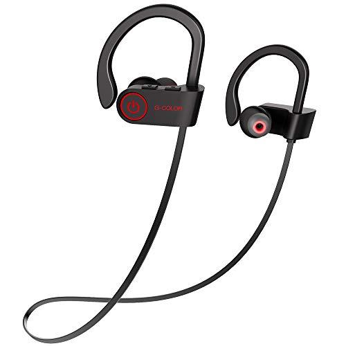 G-Color Bluetooth Kopfhörer, IPX7 wasserdicht kabellos Kopfhörer, 8 Stunden Spielzeit, auf-Trainings Bluetooth Headset für iPhone Android
