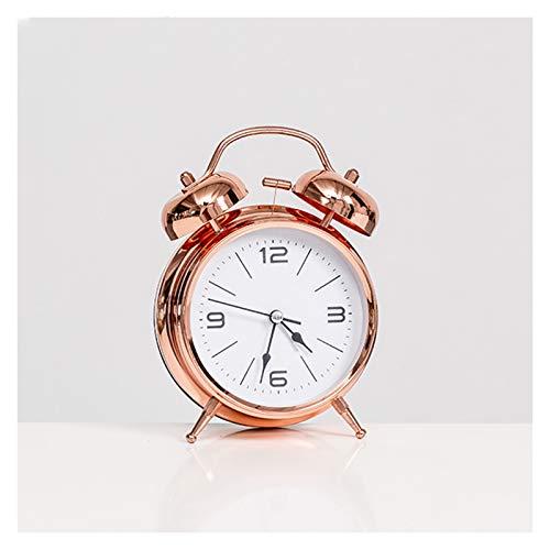 JINGZI Modern Minimalist Personality Alarm Clock Decoration Lazy Dormitory Rental Room Bedside Table Cartoon Creative Clock Decoration (Color : Type A Pink)