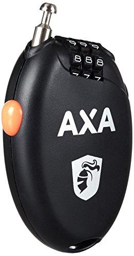 AXA Unisex-Adult Seilschloß Roll Kabelschloss, Black/Orange