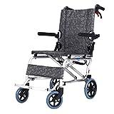Asdfnfa Folding Walker-Aluminum Travel Wheelchair Small Foldable Trolley Frame Ultra Lightweight Mobility Device
