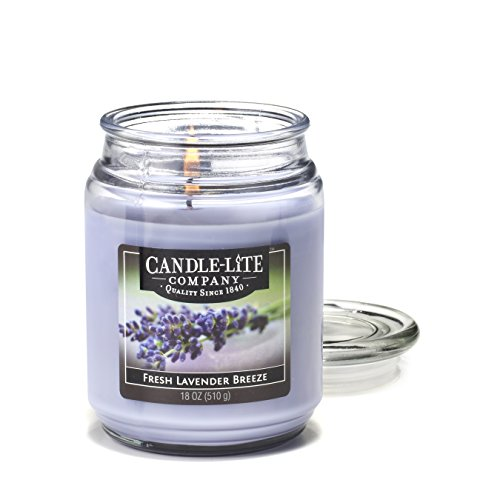 Candlelite Essentials 18-Ounce Terrace Jar Candle, Fresh Lavender Breeze