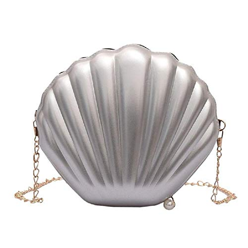 Aibearty Cute Seashell Shape Crossbody Purse Small Shoulder Bag with Chain for Women Little Girls