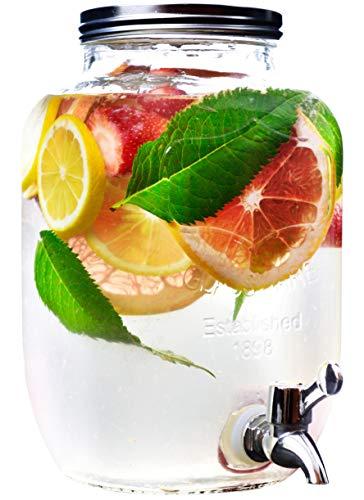 Getränkeglas mit Zapfhahn – 4 L, ein optimaler Behälter für Limonade, Säfte und andere Erfrischung Getränke