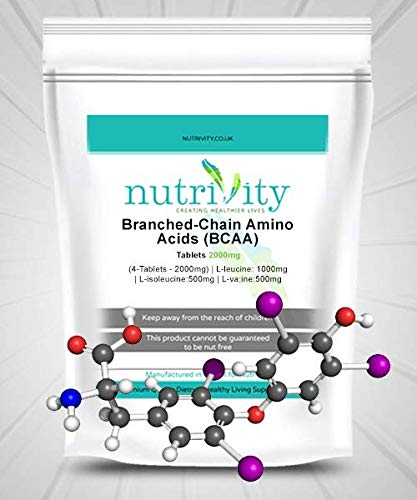 BCAA 2000mg Tablets Workout Must Have Weigh Loss Support Nutrivity (240)