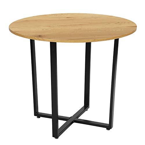 Homy Casa Mesa de comedor redonda moderna estilo elegante mesa de cocina...