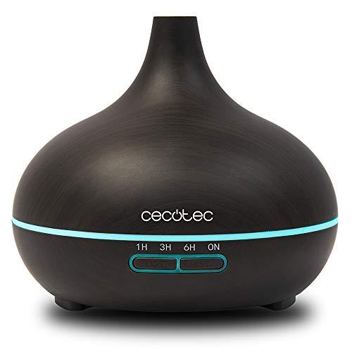 Cecotec Pure Aroma 300 Yin. Humidificador ultrasónico y difusor de Aroma 300 ml. Temporizador hasta 10 Horas. 7 Colores led. Función...