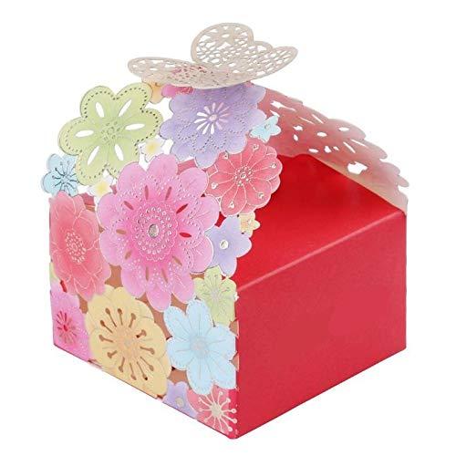 AKORD 50 stks Bruiloft Favor Snoep Geschenkdozen, Papier