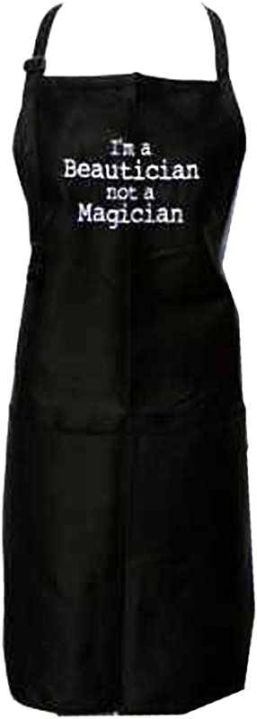 Black Embroidered Apron I M A Beautician Not A Magician
