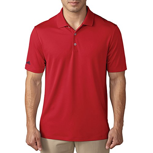 Adidas Heren PERFORMANCE POLO, rood, X-Large