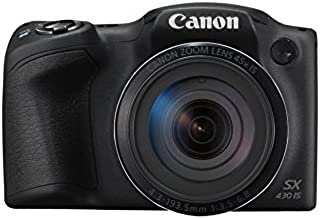 Canon PowerShot SX430 IS - Cámara compacta de 20 MP (Pantalla de 3 Zoom óptico 45x WiFi con NFC Activo Smart Auto Canon Connect Creative Filter Intelligent IS) Negro