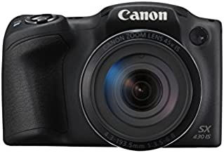 Canon PowerShot SX430 IS - Cámara compacta de 20 MP (Pantalla de 3'', Zoom óptico 45x, WiFi con NFC Activo, Smart Auto, Canon Connect, Creative Filter, Intelligent IS) Negro
