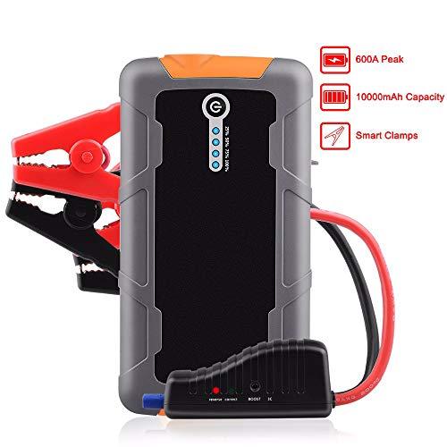 WQYRLJ 10000mAh Car Jumpstarter 600A 12V externe batterij Booster Multifunctionele powerbank voor 5,2 l benzinemotor 3,0 l Diesel Engine
