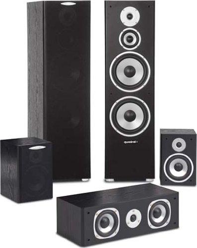 Quadral Quintas 6000 5.0 Heimkino-Set Lautsprechersystem schwarz