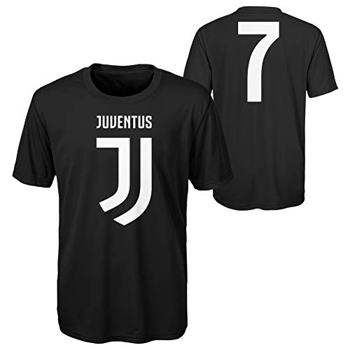Juventus F.C. Cristiano Ronaldo #7 Black Youth Shirt (Large)