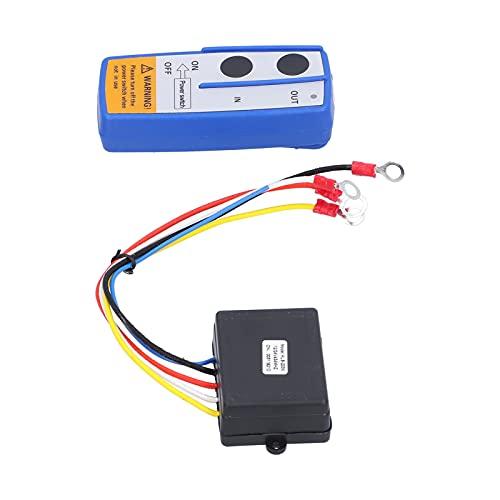 HAOX Kit de Control Remoto de cabrestante, 12 V, Giro eléctrico, 150 mAh, batería alcalina, Remolque de Descarga, Control Remoto inalámbrico, Rango de operación de 50 pies para SUV
