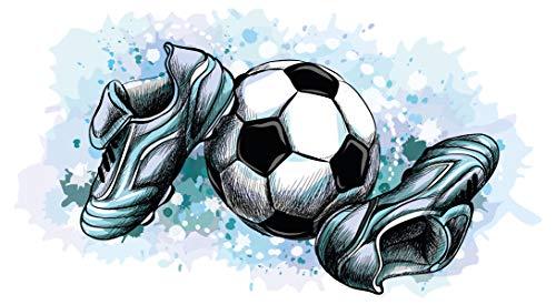 dekodino® Wandtattoo Fußball Ausrüstung Jugendzimmer Teenager Junge Dekoration