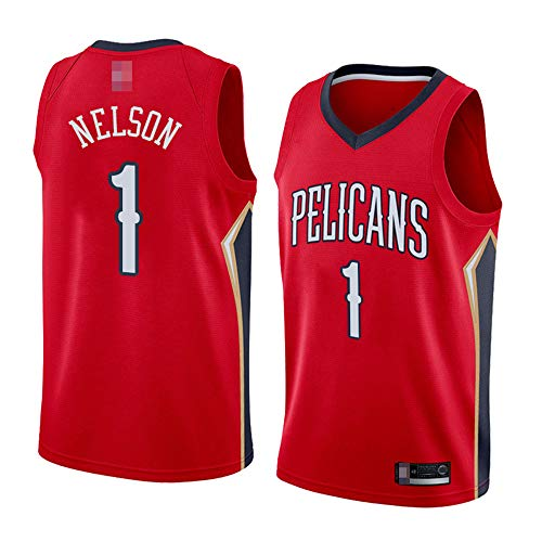 LYY Jerseys De Baloncesto para Hombre, New Orleans Pelicans # 1 Zion Williamson - NBA Classic Sport Ropa Sin Mangas Camiseta Sin Mangas, Tops De Confort Uniformes,Rojo,S(165~170CM)