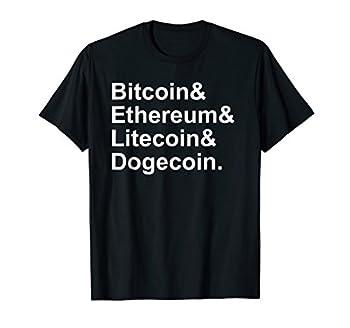 Cryptocurrencies List T-shirt Bitcoin Ethereum Litecoin Doge