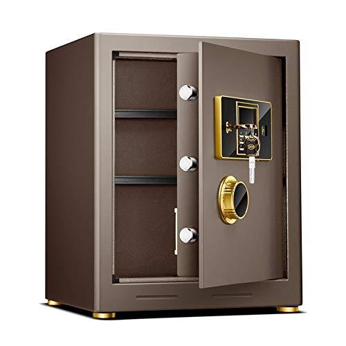jklj Pequeña Caja Fuerte Robusta Digital Seguridad Caja Seguridad Aleación Acero Construcción Contraseña Plus Configuración de Llaves para Home Office Hotel para el Dinero de la joyería.