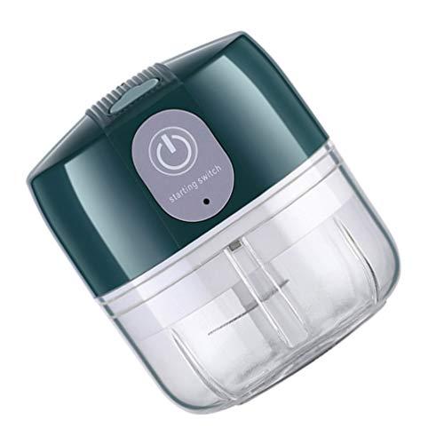Yarnow Mini espremedor de alho elétrico para alho não precisa descascar alho espremedor de utensílios de cozinha verde 100 ml