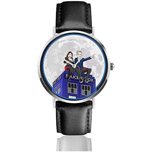 Orologio da uomo casual in pelle al quarzo Doctor Who And Clara