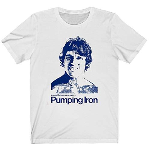 Arnold Schwarzenegger Shirts, Pumping of Iron T Shirt 70s Bodybuilding Movie Retro Crewneck Shirts