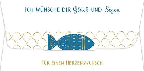 Kuvert für ein Geld- oder Gutscheingeschenk - Ich wünsche dir Glück und Segen: Für einen Herzenswunsch