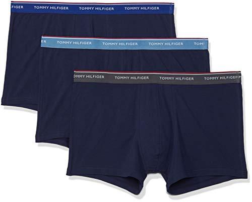 Tommy Hilfiger Herren 3p Trunk Boxershorts, Blau (Blue Heaven/Mazzarine Blue/Iron Gate (Pe 803), S (3er Pack)