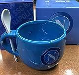 CARTOON WORLD Tazza Latte in Ceramica con Cucchiaino - SSC Napoli - Ufficiale ed Originale