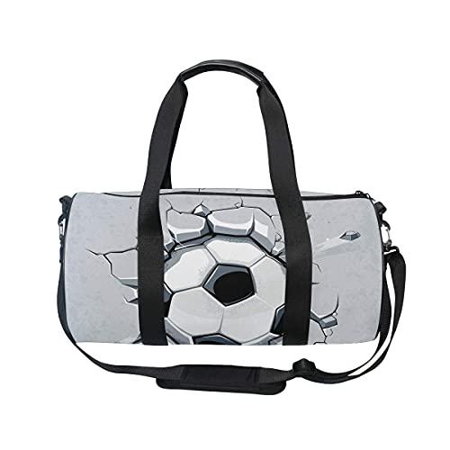 Borsone da palestra, borsa da palestra con scomparto per scarpe e tasca bagnata per donne o uomini