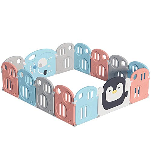 New HBIAO Baby Playpen, Colourful Plastic Panels Child Safety Game Center Courtyard Family Indoor Ou...