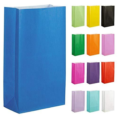 Thepaperbagstore 20 Papiertüten für Partys und Geschenke - Blau - 140x245x70mm