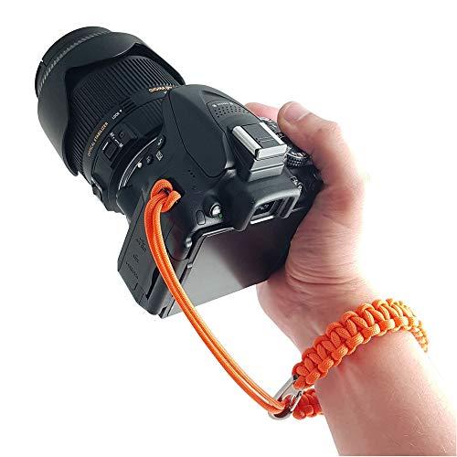 Kamera-Handschlaufe aus Paracord - ORANGE - für DSLR SLR und Kompakt-Kamera - Handgelenk-Schlaufe Kameraschlaufe Kameraband Trageschlaufe - MIND CARE ESSENTIALS