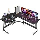 CubiCubi Gaming Desk L-Shaped Desk Corner Gaming Computer Desk Home Office Desk Writing Study Table Gaming Desk l Desk for Gaming pc Table l Table Black Desk