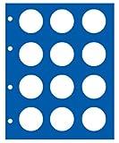 2x SAFE 7850 TOPSET ERGÄNZUNGSBLÄTTER / MÜNZBLÄTTER FÜR je 12 x 10 EUROMÜNZEN & 10 DM & 10 MARK DDR IN MÜNZKAPSELN CAPS 32,5 - FÜR ALLE SAFE TOPSET...