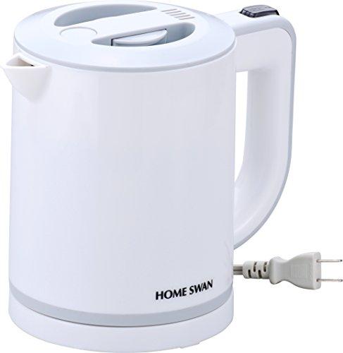 電気ケトル0.6L 【衛生的なステンレス製内容器/こぼれにくい安全構造/点灯スイッチ】