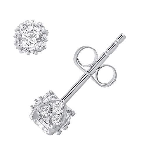 Royal 1/2 Carat Diamond Stud Earrings in 14K White Gold