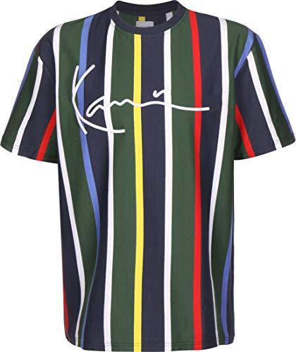 Karl Kani Herren T-Shirts Kk Stripe blau XL