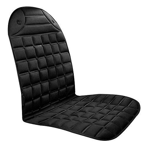 NYWENY - Cojín de asiento con calefacción, 12 V, con calefacción, para asiento delantero, para coche, portátil, USB, portátil, para invierno, para viaje, cómodo, cálido, para silla