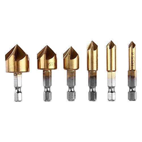 HSS 4241 Senker Sats mit Titan Beschichtete für Ho 90° Kegelsenker Set Golden