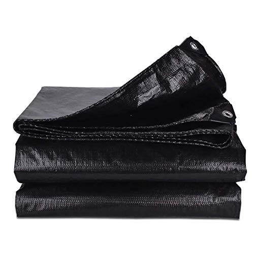 JY & WIN dekzeil zwart waterdicht polypropyleen doek voor pergola overkapping buitenshuis krachtig inklapbaar met oogjes 160 G M & sup2; (maat: 5 mx 7 m) 10 m x 10 m.