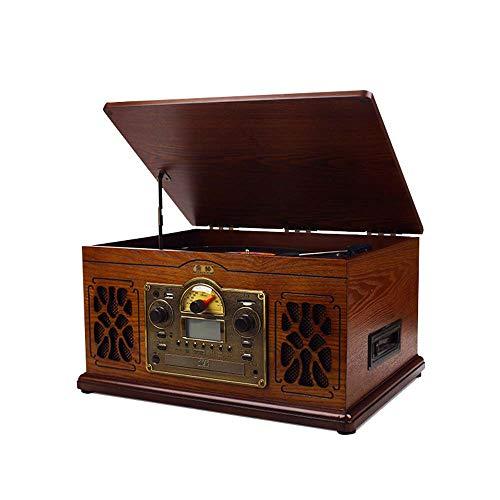 JHKJ Altavoz Bluetooth Vintage Retro con Puede Insertar Un Disco U/Auriculares / MP3 / CD/SD Speaker Subwoofer Estéreo Reproducción Altavoz Inalámbrico Portátil Bluetooth