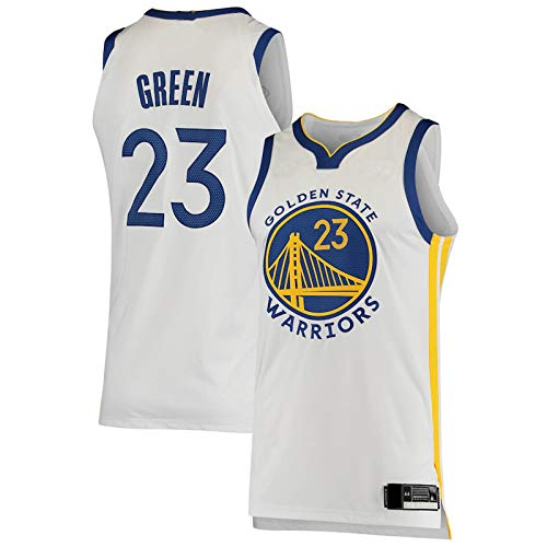 PQRP Draymond Baloncesto Verde Jersey Guerreros 2019/2021 Temporada Estado Swingman Golden Jersey Icon Edition Blanco NO.23 Retro Gym Chaleco de secado rápido