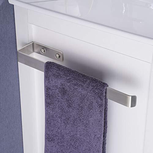 Qeekzeel Handtuchhalter, Handtuchstange für Schrankmontage Edelstahl Gebürstet Wandmontage und Schrankmontage für Bad und Küche, 36cm