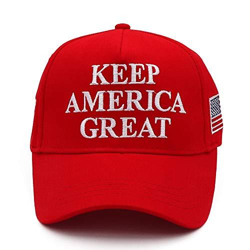 CHUNG Keep America Great Hat Trump 2020 USA Flag KAG MAGA Cap Red Bold Embroidery