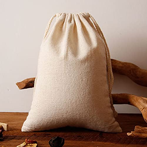 Bolsa de Muselina con cordón de Lino 15x20cm 17x24cm 20x30cm 30x40cm Nuez Alimentos Arroz Saco de Almacenamiento más GrandeBolsa de regalo-100pcs Bolsa conLogotipo, 15x20cm (6x8in)