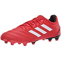 adidas Unisex Copa 20.3 Firm Ground Soccer Cleats (Active Red /Cloud White/Core Black)